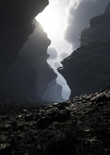 """Dark Canyon"" <small>By Franck Doassans</small>"