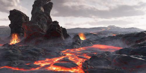 """""""Volcanic"""" <small>By Rene van Megen</small>"""